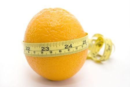 Orange with yellow meter photo