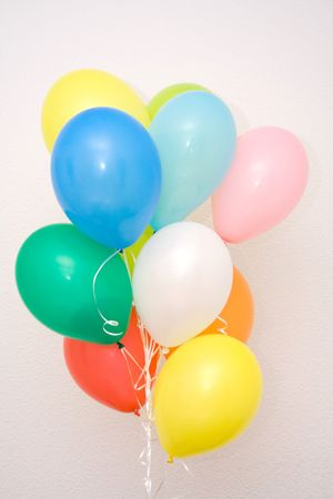 Different color balloons photo