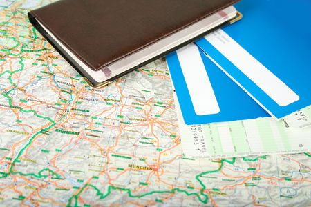avia: Preparing to travel: passport, tickets, map