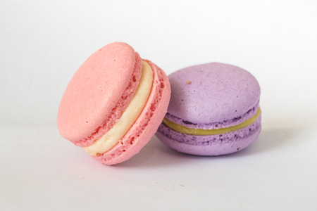 A french sweet delicacy, macaroons variety closeup. Imagens - 41060479