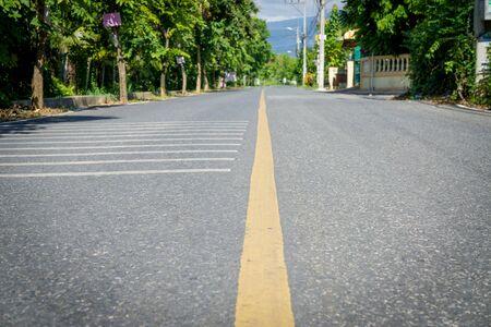 yellow line: Yellow line asphalt  road background