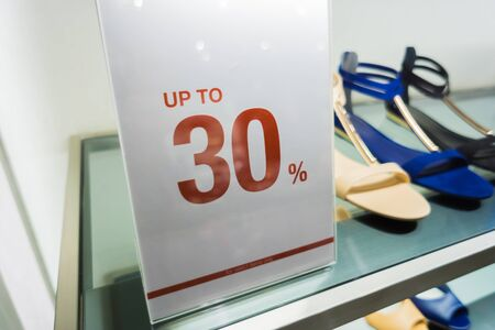 Up to 30 percent for Sale Discount Promotion