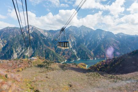 Seilbahn in Tateyama Kurobe Alpine Route, Japan