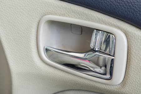 automobile door: Automobile car door handle. Stock Photo