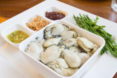 thai food: oyster,thai food. Stock Photo