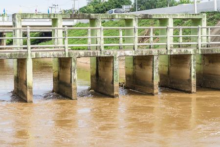 floodgates: Old Floodgate on river