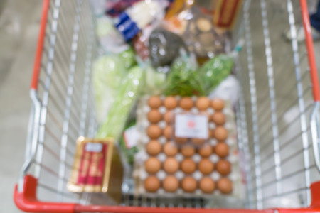 tiefe: Abstrakter Hintergrund der Supermärkte, flache Schärfentiefe. Lizenzfreie Bilder