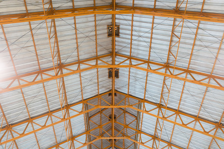 roof structure: metal roof structure