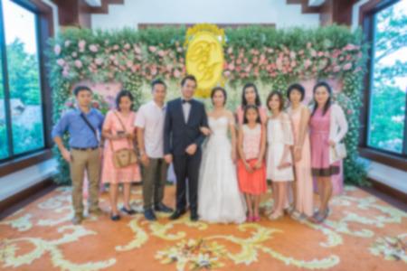 Beautiful wedding ceremony, blurred. 스톡 콘텐츠