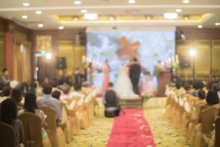 feier: Schöne Hochzeitszeremonie, verschwommen