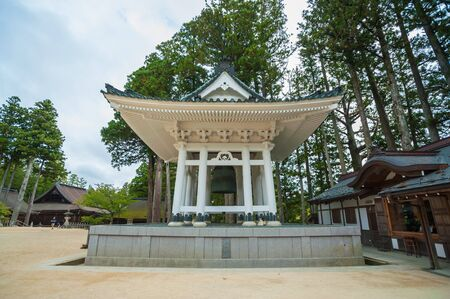 daito: Konpon Daito pagoda at Danjo Garan temple in Koyasan, established by Kobo Daishi at the time he entered Koyasan Stock Photo
