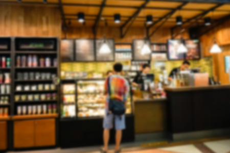 blur of   coffee  shop background