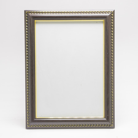Vintage picture frame on a white background.