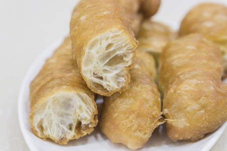 patongkoh: china,hong kong deep-fried dough stick ,chinese food,thai food,asia food. Stock Photo