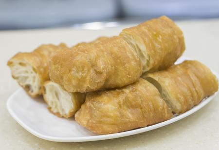 patongkoh: china,hong kong deep-fried dough stick ,chinese food,thai food,asia food. Stock Photo