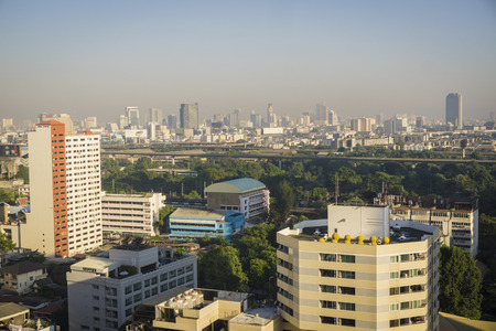 krung: Bangkok -THAILAND-20 NOVEMBER  2015-- The city of Bangkok,is the capital and most populous city of Thailand. It is known in Thai as Krung Thep Maha Nakhon.Bangkok is very modern with many skyscrapers.