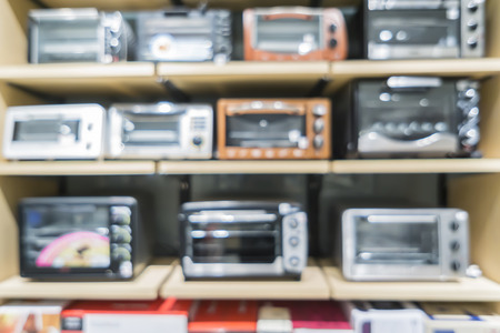 electrical appliance: Blur of Electrical appliance stores background.