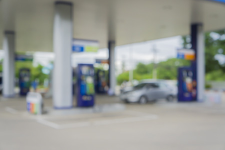Blurred background of gas station,out of focus gas station,Gas Station And Convenience Store Imagens - 51985458