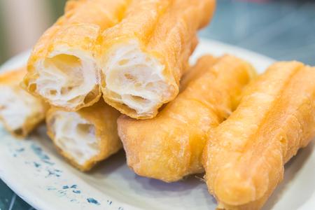 patongkoh: china,hong kong deep-fried dough stick ,chinese food,thai food,asia food,selective focus.