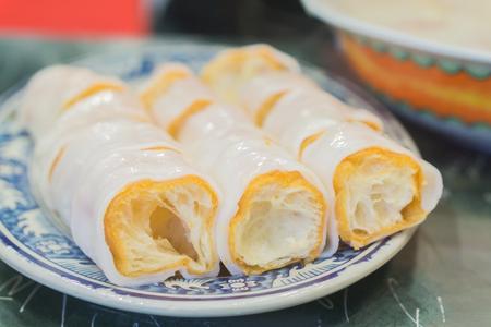 patongkoh: Noodles incandescent count,china,hong kong deep-fried dough stick ,chinese food,thai food,asia food. Stock Photo