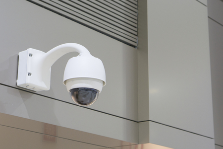 CCTV Camera Operating inside a station or department store,selective focus?