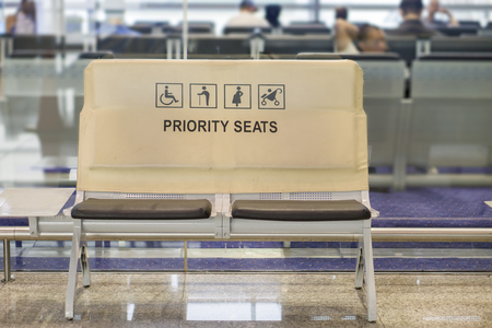 priority: Priority seats in airport.selective focus.