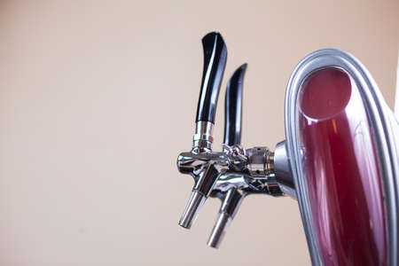 beer tap: Beer taps in a bar for spilling drinks