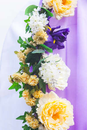 Decoration of wedding flowers photo