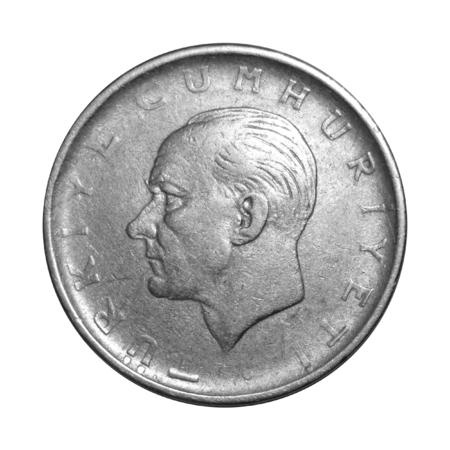turkish lira: 1 Turkish Lira 1959 Head