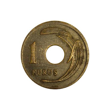 kuru: 1 Turkish Kurus 1949 Tail