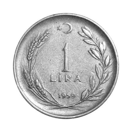turkish lira: 1 Turkish Lira 1959 Tail