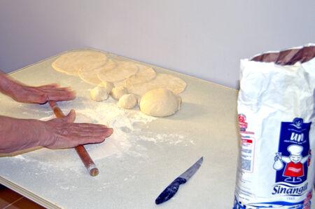Making Turkish Pancake Zdjęcie Seryjne