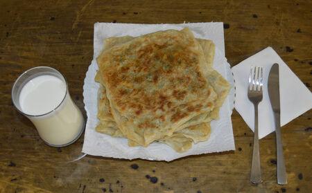 Turkish Pancake with Buttermilk Zdjęcie Seryjne