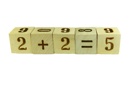 additional training: Cubes with the numbers stacked in a wrong mathematical expression isolated