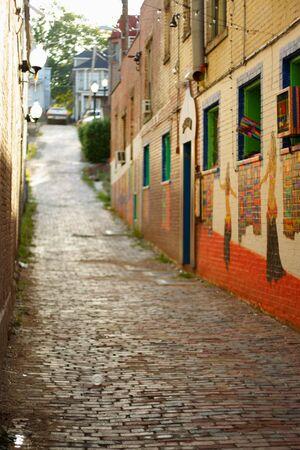 An enchanting street scene. Stock fotó