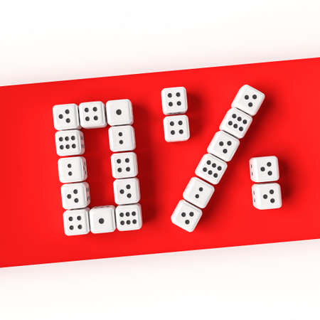 probability: zero percent Stock Photo