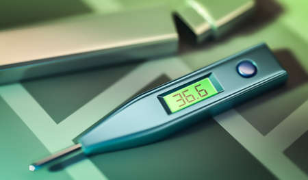 normal: a thermometer showing normal temperature