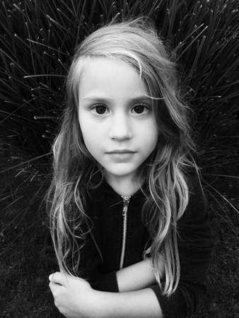eye: Pretty little sister. Stock Photo