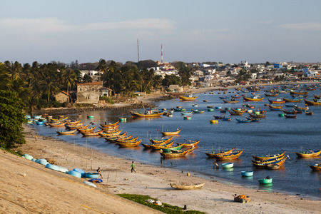 Fishing boats in Mui Ne Vietnam