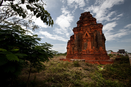 Cham tower Vietnam photo