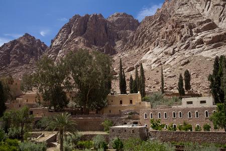 monte sinai: Monasterio de Santa Catalina en el Sinaí, Egipto Foto de archivo