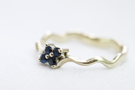 Ring with sapphires photo