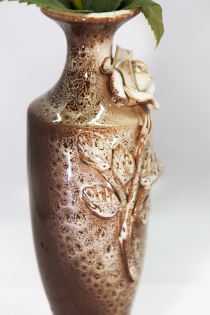 Pottery vase for flowers photo