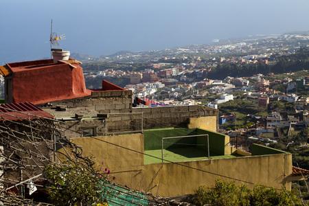 City in Atlantic ocean, coast of Tenerife, Tenerife, Canary Islands, Spain