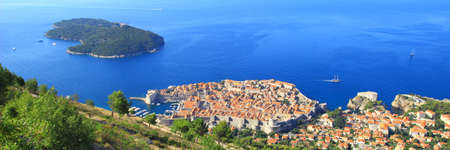 stoned: Panoramic view of Dubrovnik and surroundings