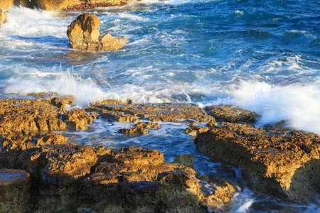 rough sea: Rough sea on coast