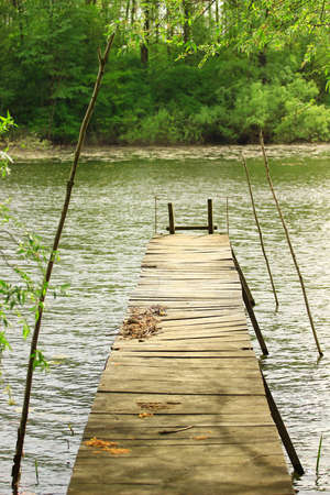wooden dock: Wooden dock for fishning