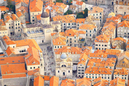Church of St. Vlaho and Cathedral in Dubrovnik, Croatia Stock Photo