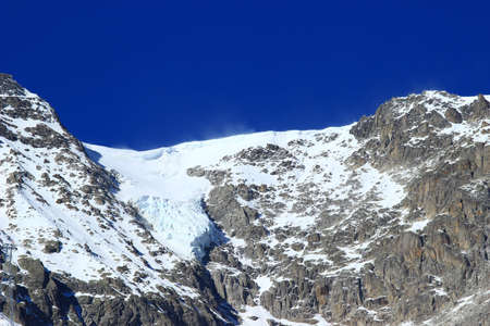 courmayeur: Glacier in Mont Blanc massif in Alps