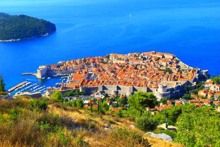 Dubrovnik in Croatia, panoramic view Stock fotó